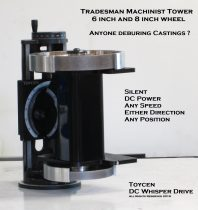 Tradesman Machinist Infinate Twin DC Tower Grinder (yep folks this is a bench grinder)