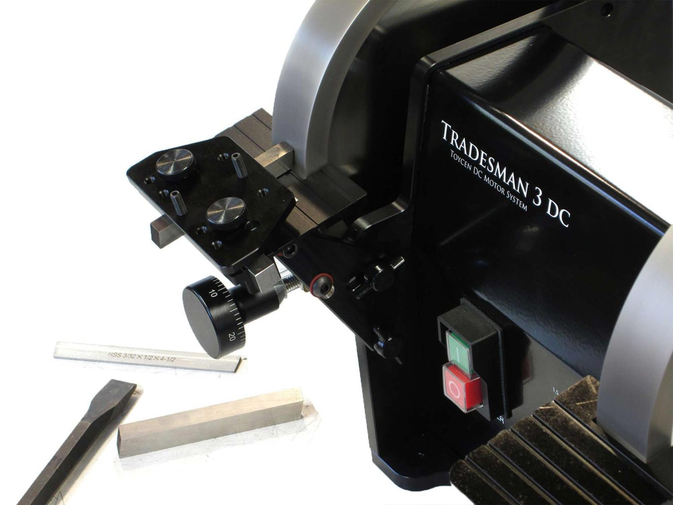 Tradesman Dc Variable Speed Bench Grinder Feed Rest Micro Adjustment Cuttermasters