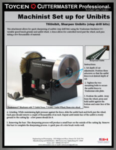 Tradesman Unibit Sharpener Instructions