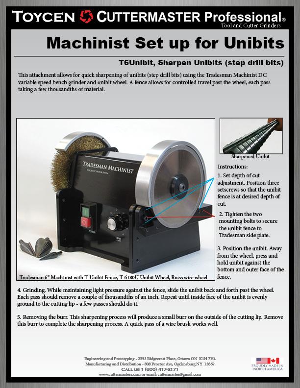 Tradesman Unibit Sharpener Instructions
